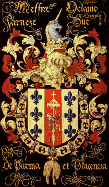 Pendant Painting - Armorial Plates From The Order Of The Golden Fleece - 82 by Lukas de Heere