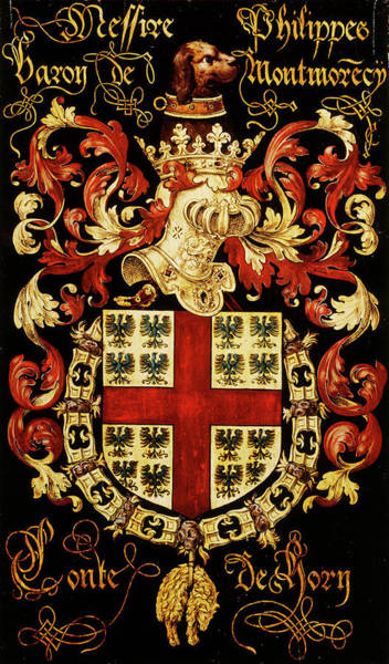 Pendant Painting - Armorial Plates From The Order Of The Golden Fleece - 9 by Lukas de Heere