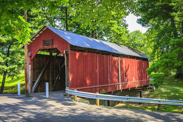 Photograph - Armstrong/clio Covered Bridge by Jack R Perry