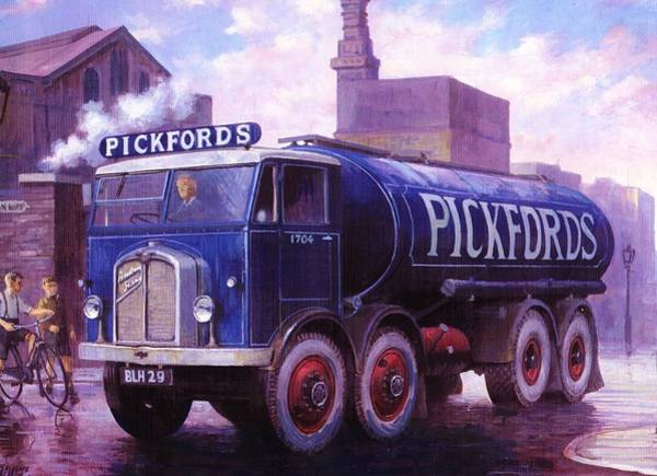 Wall Art - Painting - Armstrong Saurer Tanker. by Mike Jeffries