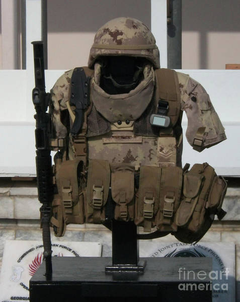 Photograph - Army Gear by Michael Waters