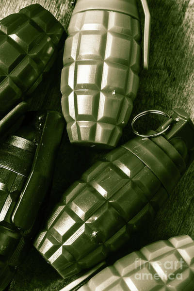 Weapon Wall Art - Photograph - Army Green Grenades by Jorgo Photography - Wall Art Gallery