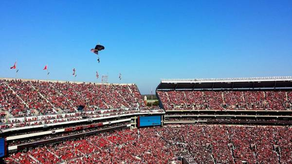 Photograph - Army Rangers Drop In On Gameday by Kenny Glover