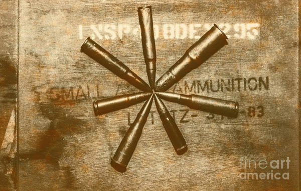Military Photograph - Army Star Bullets by Jorgo Photography - Wall Art Gallery