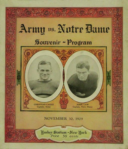 Photograph - Army Vs Notre Dame Souvenir Program November 30 1929 by Bill Cannon