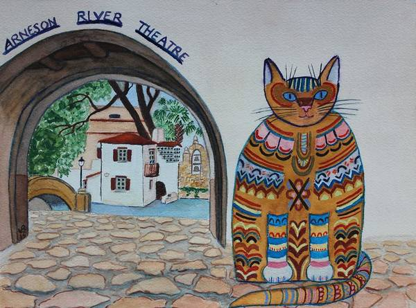 Painting - Arneson Theatre Cat by Vera  Smith