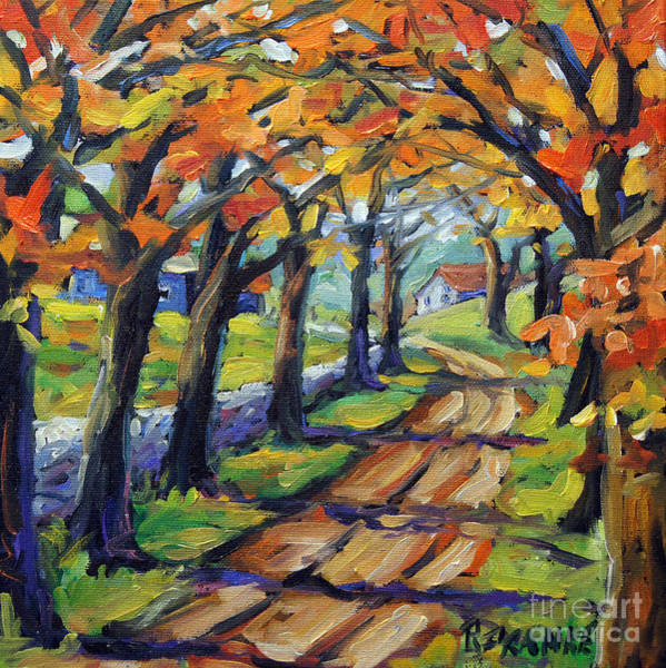 In Canada Painting - Around The Bend By Prankearts by Richard T Pranke
