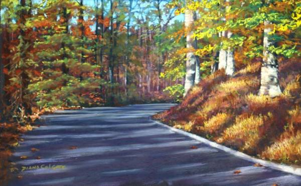 Colgate Wall Art - Pastel - Around The Bend by Diana Colgate