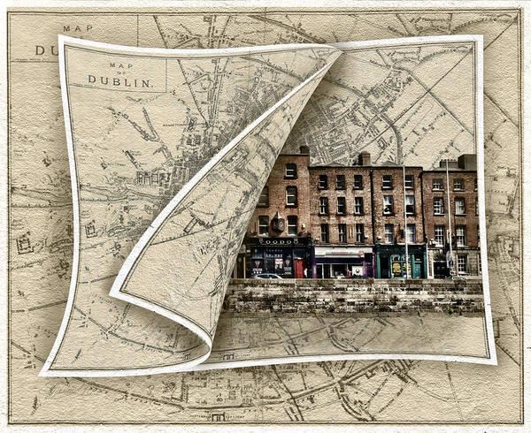 Photograph - Arran Quay Dublin Map by Sharon Popek