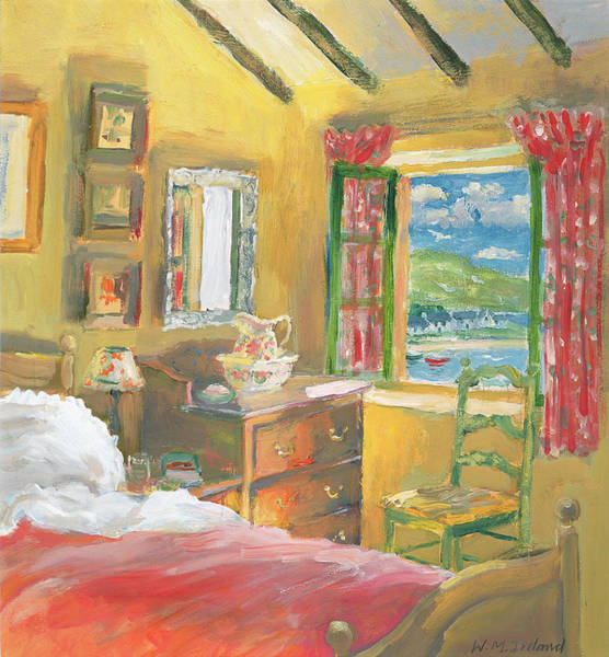 Blanket Painting - Arran View by William Ireland
