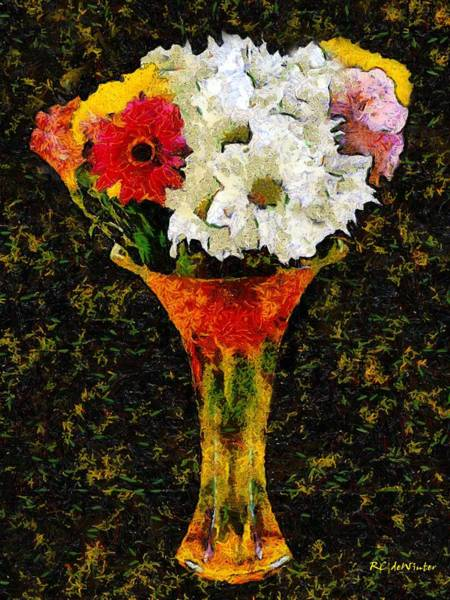 Painting - Arrangement In Confetti And Black by RC DeWinter