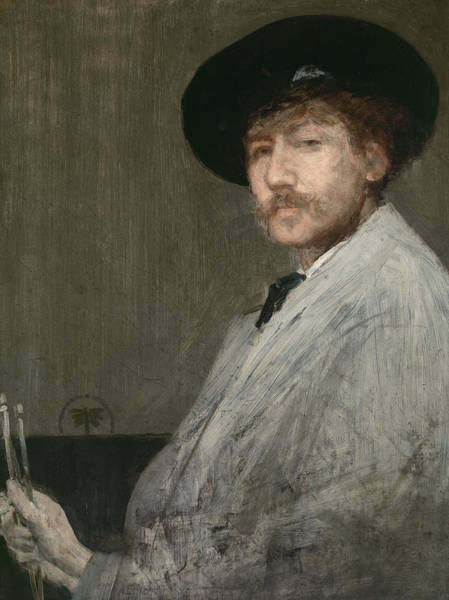 Mustache Painting - Arrangement In Grey  Portrait Of The Painter by James Abbott McNeill Whistler