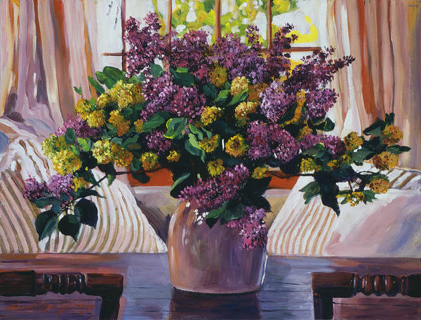 Painting - Arrangement In Lavender by David Lloyd Glover