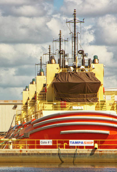 Port Of Tampa Wall Art - Photograph - Array Of Tugboats - Tampa Bay, Florida by Mitch Spence