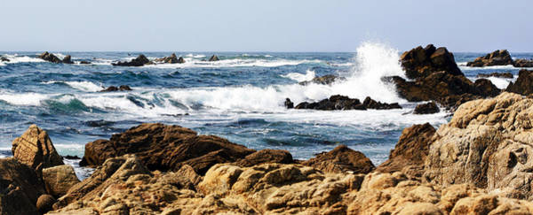 Photograph - Arriving Tide At Pebble Beach by Marilyn Hunt