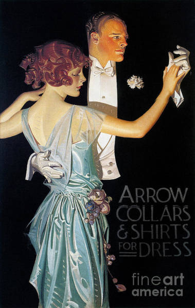 Wall Art - Photograph - Arrow Shirt Collar Ad, 1923 by Granger