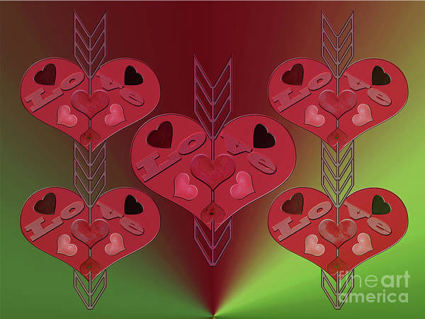 Photograph - Arrows Shooting Love Hearts by Rockin Docks Deluxephotos