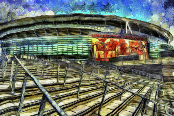 Wall Art - Mixed Media - Arsenal Fc Emirates Stadium Van Gogh by David Pyatt