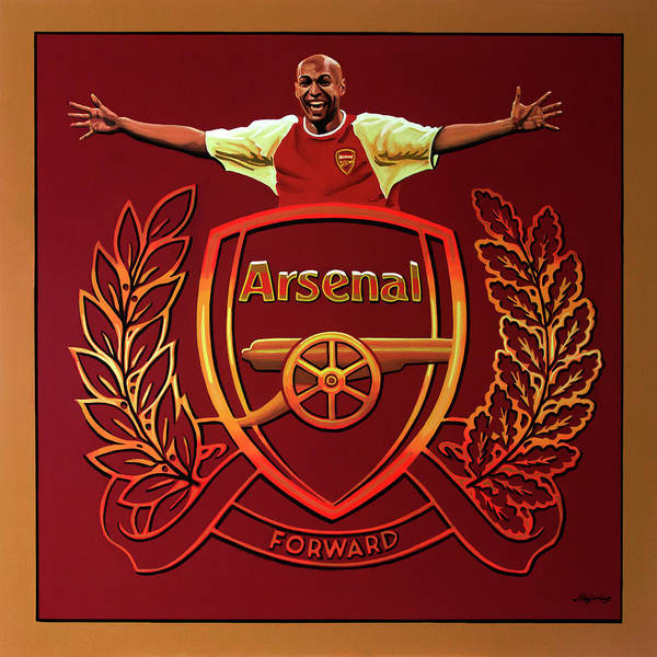 Football Players Wall Art - Painting - Arsenal London Painting by Paul Meijering