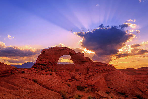 Photograph - Arsenic Arch Sunset by Johnny Adolphson