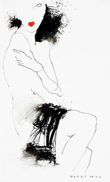 Wall Art - Drawing - Lady5 by Viktor Sheleg