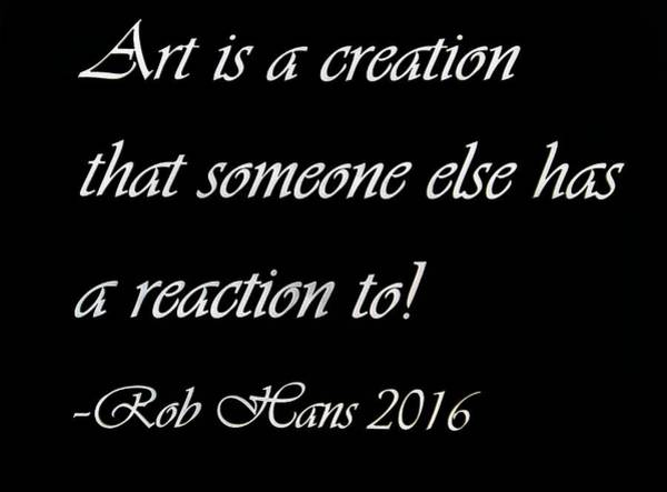 Capable Photograph - Art Creation Quote Black by Rob Hans