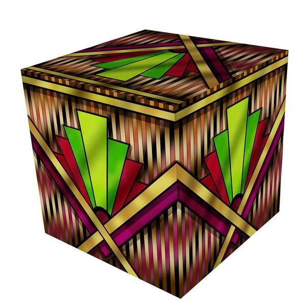 Digital Art - Art Deco 13 Cube by Chuck Staley