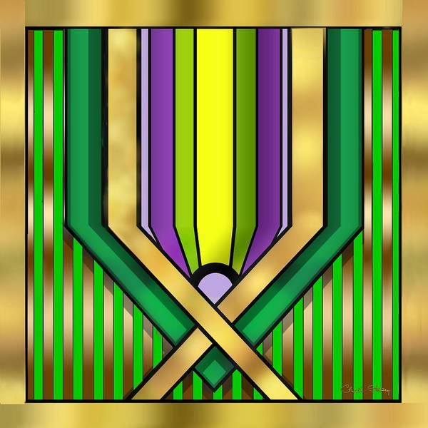Digital Art - Art Deco 14 A Transparent by Chuck Staley