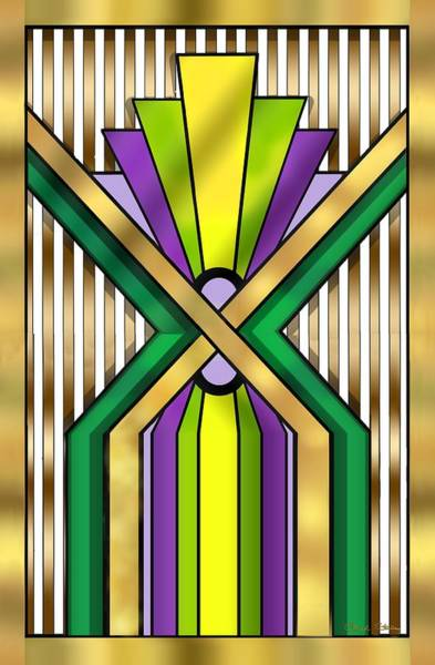 Digital Art - Art Deco 14 B by Chuck Staley