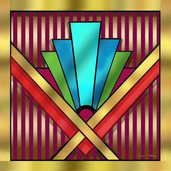 Digital Art - Art Deco 15 Transparent by Chuck Staley