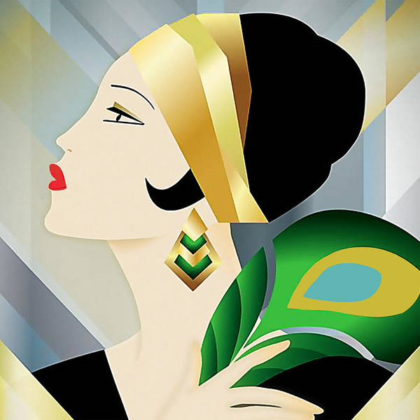 Digital Art - Roaring 20s Flapper by Chuck Staley