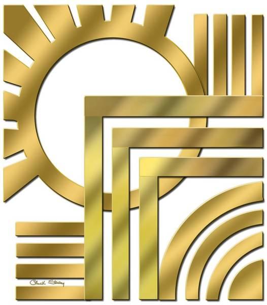 Digital Art - Art Deco 21 Transparent by Chuck Staley