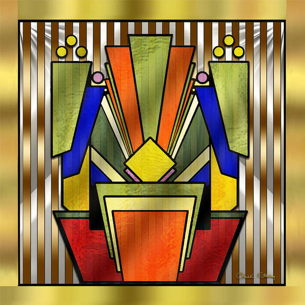 Digital Art - Art Deco 26 by Chuck Staley