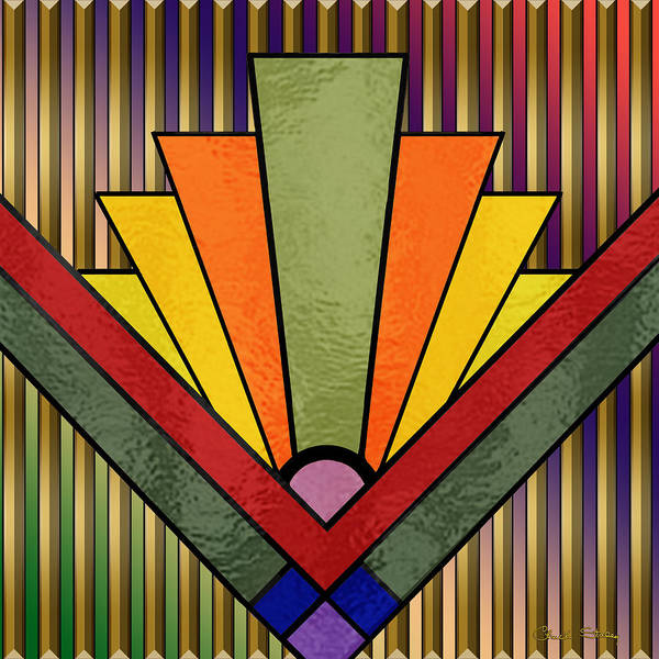 Digital Art - Art Deco 27 by Chuck Staley