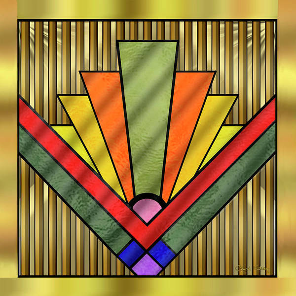 Digital Art - Art Deco 29 by Chuck Staley
