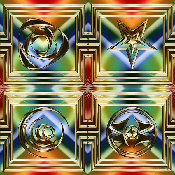 Digital Art - Art Deco 4 Panel by Chuck Staley