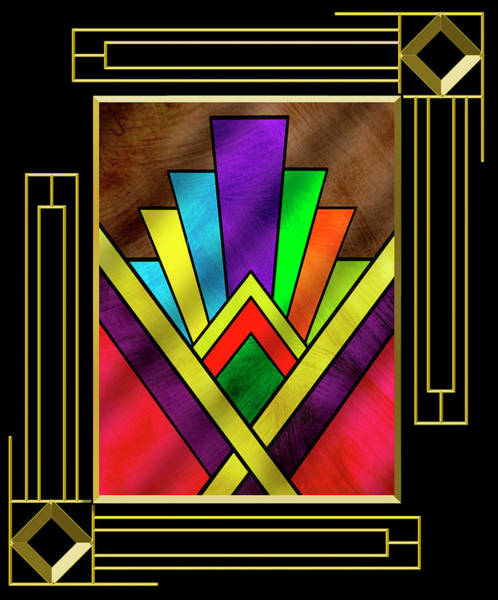Digital Art - Art Deco 7 B - Frame 5 by Chuck Staley