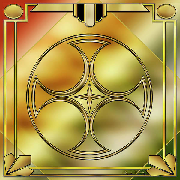 Digital Art - Art Deco Brass 3 by Chuck Staley