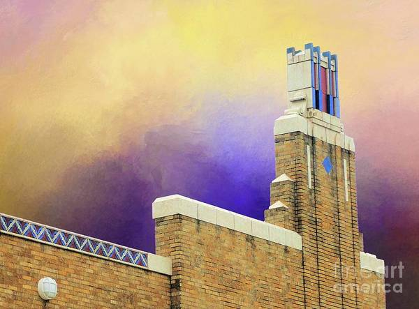 1921 Mixed Media - Art Deco Building by Janette Boyd