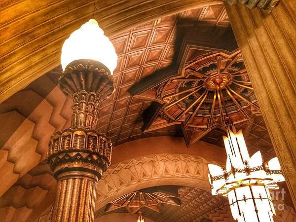 Photograph - Art Deco Ceiling by Jenny Revitz Soper