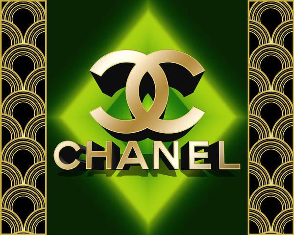 Digital Art - Art Deco Chanel 3 D by Chuck Staley