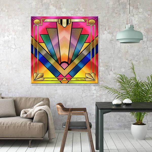 Digital Art - Art Deco Chevron 6 Wall Art by Chuck Staley