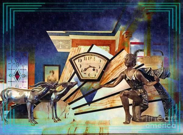 Photograph - Art Deco Clock Bezel by Jenny Revitz Soper