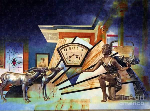 Photograph - Art Deco Clock by Jenny Revitz Soper