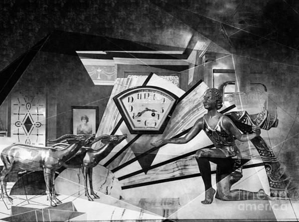 Photograph - Art Deco Clock Overlay by Jenny Revitz Soper