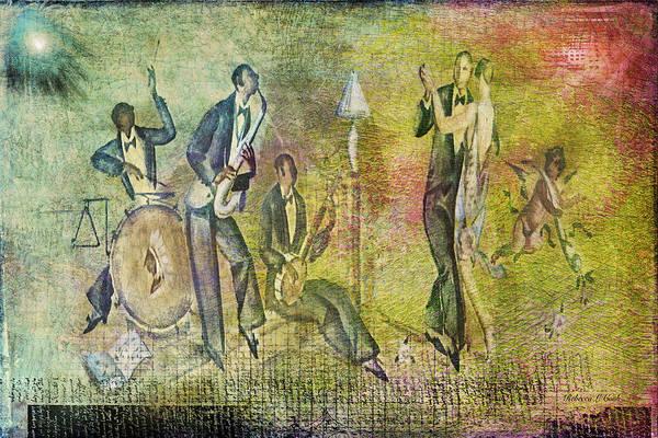 Digital Art - Art Deco Dancing by Bellesouth Studio