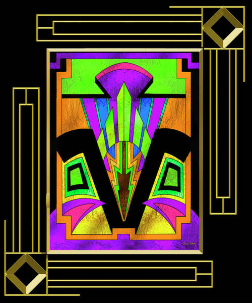 Digital Art - Art Deco 5 B - Frame 5 by Chuck Staley