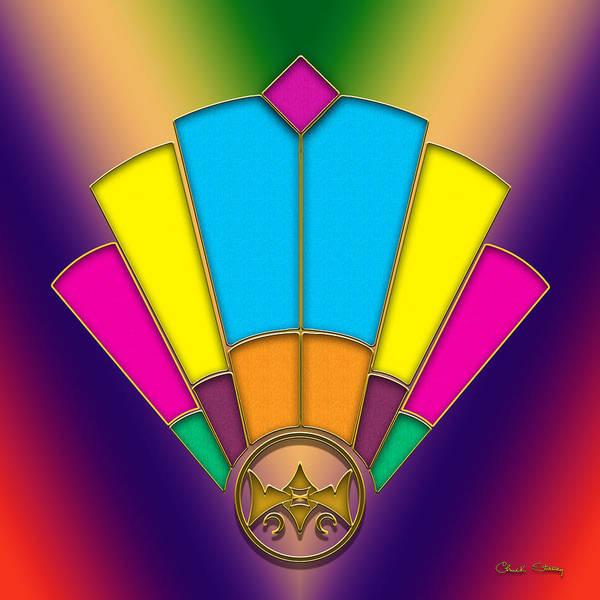 Digital Art - Art Deco Fan 1 by Chuck Staley