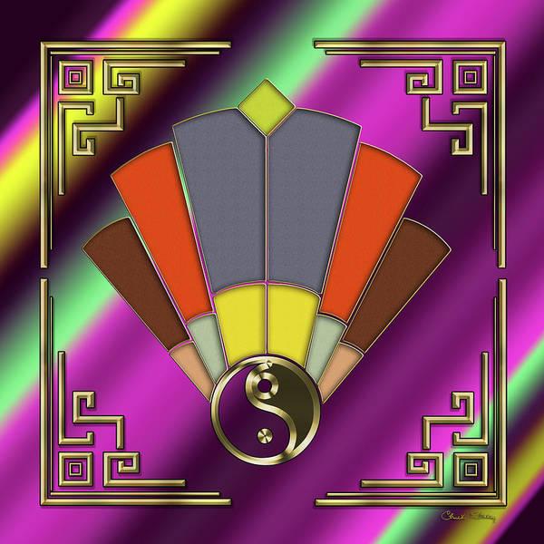 Digital Art - Art Deco Fan 12 - Frame 2 by Chuck Staley