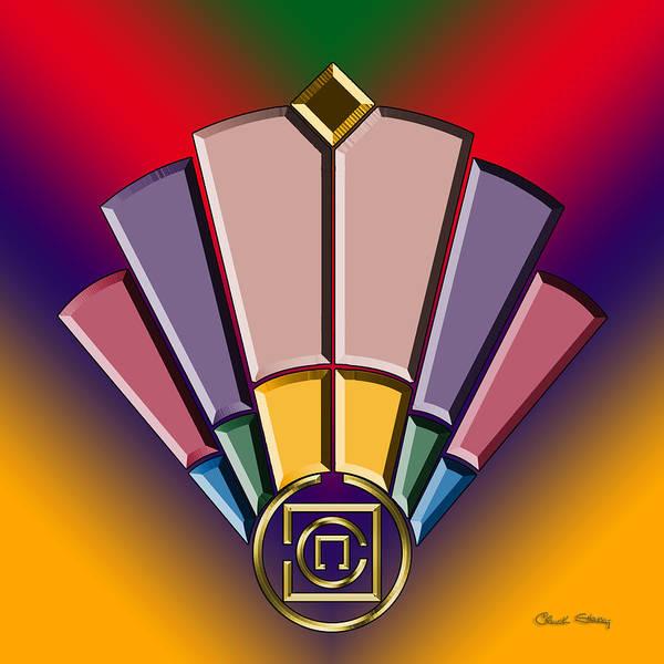 Digital Art - Art Deco Fan 13 by Chuck Staley